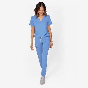 FIGS ceil blue yola scrub pants